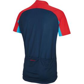 Ziener Caplan Fietsshirt korte mouwen Heren rood/blauw